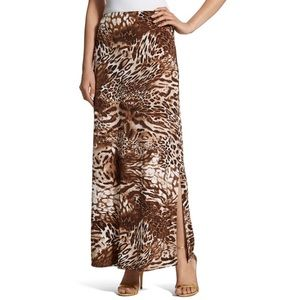 NEW Chico's Leopard Maxi Skirt